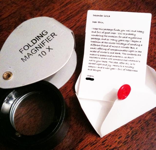 Wonder Box Letter